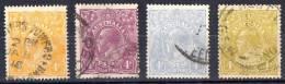 Australia 1914-24 King George V Single Crown Wmk 4d Values Used - SG 22, 64,65,80 - 1913-36 George V: Köpfe