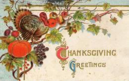 Illustrée Gaufrée : THANKSGIVING GREETINGS 2 - Thanksgiving