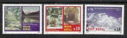 NEPAL 2000  Tourism 3values Complete Set,  Mountain, Lake, Snow, Nature, MNH(**) - Vacanze & Turismo