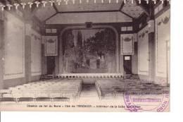 TERGNIER Chemin De Fer Du Nord  Cité De TERGNIER Interieur De Salle Des Fetes ( Tampon Vente  Colonies Des Cheminots )