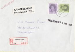 Nederland - Aangetekend/Recommandé Brief Vertrek Terheijden - Aantekenstrookje Terheijden 420 - Poststempel
