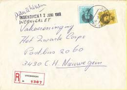 Nederland - Aangetekend/Recommandé Brief Vertrek Steenbergen - Aantekenstrookje Steenbergen 1307 - Poststempel