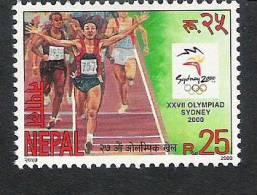 NEPAL 2000  Olympic Games, Olympics, Sydney, 1 Value, Complete, MNH(**) - Atletica