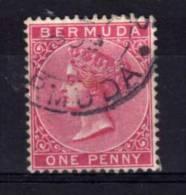 Bermuda - 1886 - 1d Definitive (Carmine-Rose, Watermark Crown CA) - Used - Bermudes
