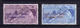 Bermuda - 1953 - Three Power Talks (Overprint 25¼ Mm) - MH - Bermudes
