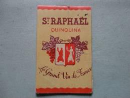 Carnet De Commande St Raphael Quinquina - Publicidad