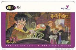 Israel, Harry Potter On TalkMan Card, 2 Scans - Israel
