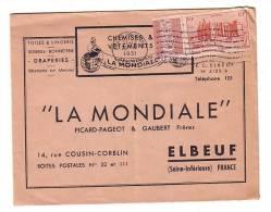 AOF Sénégal Dakar 1951 La Mondiale Elboeuf Toile Lingerie Draperie Bonneterie Soieries Picard Pageot Gaubert - A.O.F. (1934-1959)