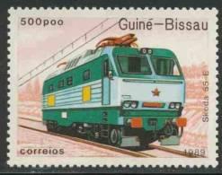 Guinea Bissau 1989 Mi 1037 ** Type 55E Electric Locomotive, Czechoslovakia / Schienenfahrzeug / Véhicule Ferroviaire - Treinen
