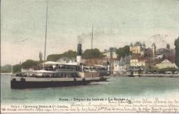 """4967 - Nyon Départ Du Bateau """"La Suisse"""" - VD Vaud"""