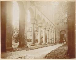 Rottenbach, Ortsteil Paulinzella, Saalfeld-Rudolstadt, Thüringen, Romanische Klosterruine Langhaus 3 FOTO 1920, Original - Orte