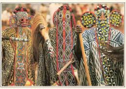Carte Postale   Masque  Africain   -   BANDJOUN - DANSEURS  BAMILEKES MASQUES     CAMEROUN - Unclassified
