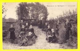 * Beirlegem - Beerlegem (Zingem - Gavere) * Pensionnat De Beirlegem, école, School, TOP CPA, Coin Jardin, Enfant, Classe - Zingem