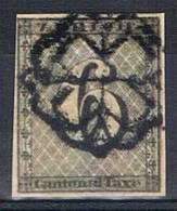 6 Rp  Canton De Zurich Oblitération Rosette - 1843-1852 Kantonalmarken Und Bundesmarken