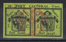 5 C. Double De Genève Oblitération Rosette - 1843-1852 Kantonalmarken Und Bundesmarken