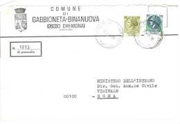GABBIONETA BINANUOVA  26030  PROV. CREMONA  - ANNO 1978 - LS  - STORIA POSTALE DEI COMUNI D´ITALIA - POSTAL HISTORY - Affrancature Meccaniche Rosse (EMA)