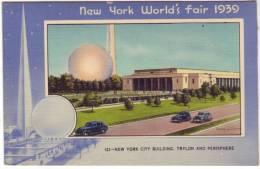 New York World's Fair 1939 - City Building Trylon And Perisphere - Exhibitions