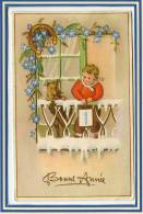 *** CPA Fantaisie Bonne Année *** BELLE CARTE  *** - Nieuwjaar