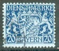 Collection BAVIERE ; BAVARIA ;service ; 1916-18 ; Y&T N° 28 ;  Oblitéré - Bavière
