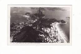 Brésil - Rio - Vista Aerea Do Pao De Açucar E Copacabana - Copacabana