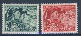 Deutsches Reich Michel No. 684 - 685 ** postfrisch / No. 685 Fingerspur
