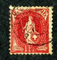 1071 )  SWISS 1908  Mi.#79Ca Used  -perf 11 3/4 X11 ...( 5. Euros ) - Used Stamps