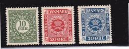 DANEMARK - YVERT N° 165/167  **/* - COTE = 14.2 EUROS - - Ungebraucht
