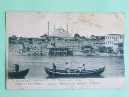 CONSTANTINOPLE - Muraille Maritime Et Mosquée D'AHMED. - Turquie