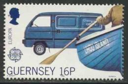 "Guernsey 1988 Mi 417 Sc 381 ** Bedford ""Rascal"" Mail Van / Postauto – Europa Cept - Post"