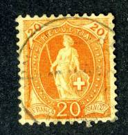 1107 )  SWISS 1902   Mi.#67D Used   ( 2. Euros ) - Gebraucht