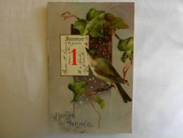 Mignonne CPA 1er Janvier   Oiseau, Branche De Lierre - New Year