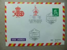 ESPAÑA 1987 500 AÑOS DESCUBRIMIENTO DE AMERICA  PRIMER DIA DE CIRCULACION+NUEVA - Christophe Colomb