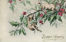 N°24873 -cpa Bonne Année -cochons- - Cochons