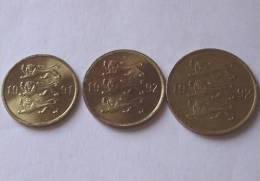 TRIS !!! ESTONIA N. 3 MONETE!!! - Estonia