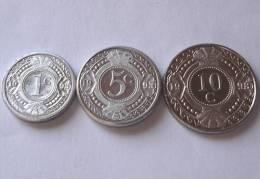 TRIS !!! ANTILLE OLANDESI N. 3 MONETE FDC !!! - Antille Olandesi