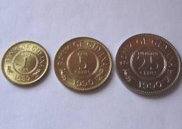 TRIS !!! GUYANA N. 3 MONETE FDC !!! - Guinea