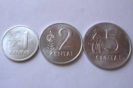 TRIS !!! LITUANIA N. 3 MONETE FDC !!! - Lituania
