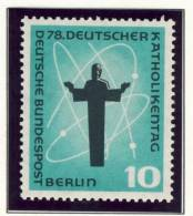 1958 Germany Berlin Complete MNH Katholic Day Set Of 2 Stamps - Neufs