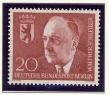 1960 Germany Berlin Complete MNH Walther Schreiber Mayor Set Of 1 Stamp - [5] Berlin