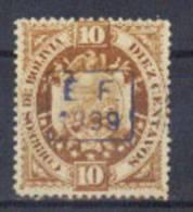 Bolivia 1899 CEFIBOL 66 *. 10C EF. Certificado SOBOHISPO #984. - Bolivia