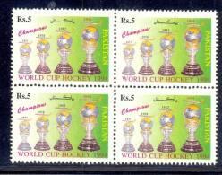 1994 PAKISTAN WORLD CUP HOCKEY CHAMPION 1994 SPORT GAMES BLOCK OF 4 UMM.