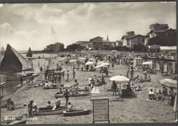 CAORLE VENEZIA VENETO LA Spiaggia  ANIMATA FOTOGRAFICA ANNI 50   ITALY ITALIEN - Venezia (Venice)