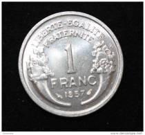 Pièce De 1 Franc Morlon 1957 SUP+ (rare Dans Cet état !) - France