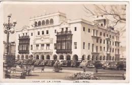 PERU TARJETA POSTAL FOTO CLUB DE LA UNION CORREO AEREO CHILE Vintage Original Postcard Ca1930 Ak Cpa [WIN3_429] - Perú