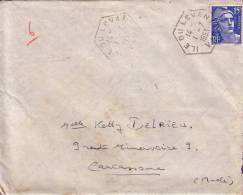 VAR-ILE DU LEVANT 1-7 1953 SUR 15F GANDON. - Marcophilie (Lettres)