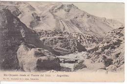 CHILE CORDILLERA  RIO OCONES TARJETA POSTAL  J. ALLAN Vintage Original Postcard Ca1900 Ak Cpa [WIN3_423] - Chile