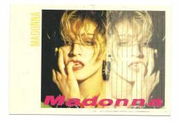 Cp, Chanteuse, Madonna, Voyagée 1989 - Cantantes Y Músicos