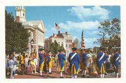 Cp, Disney, DisneyWorld, Liberty Square Fife And Drum COrps, Voyagée - Disneyworld