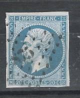 PC 875 De CLAMART, Seine, INDICE 13 Sur Empire N° 14 B, Signé, TB - 1853-1860 Napoléon III