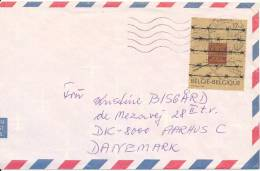 Belgium Air Mail Cover Sent To Denmark 22-5-1997 Single Stamped (the Cover Is Cut In The Left Side) - Airmail